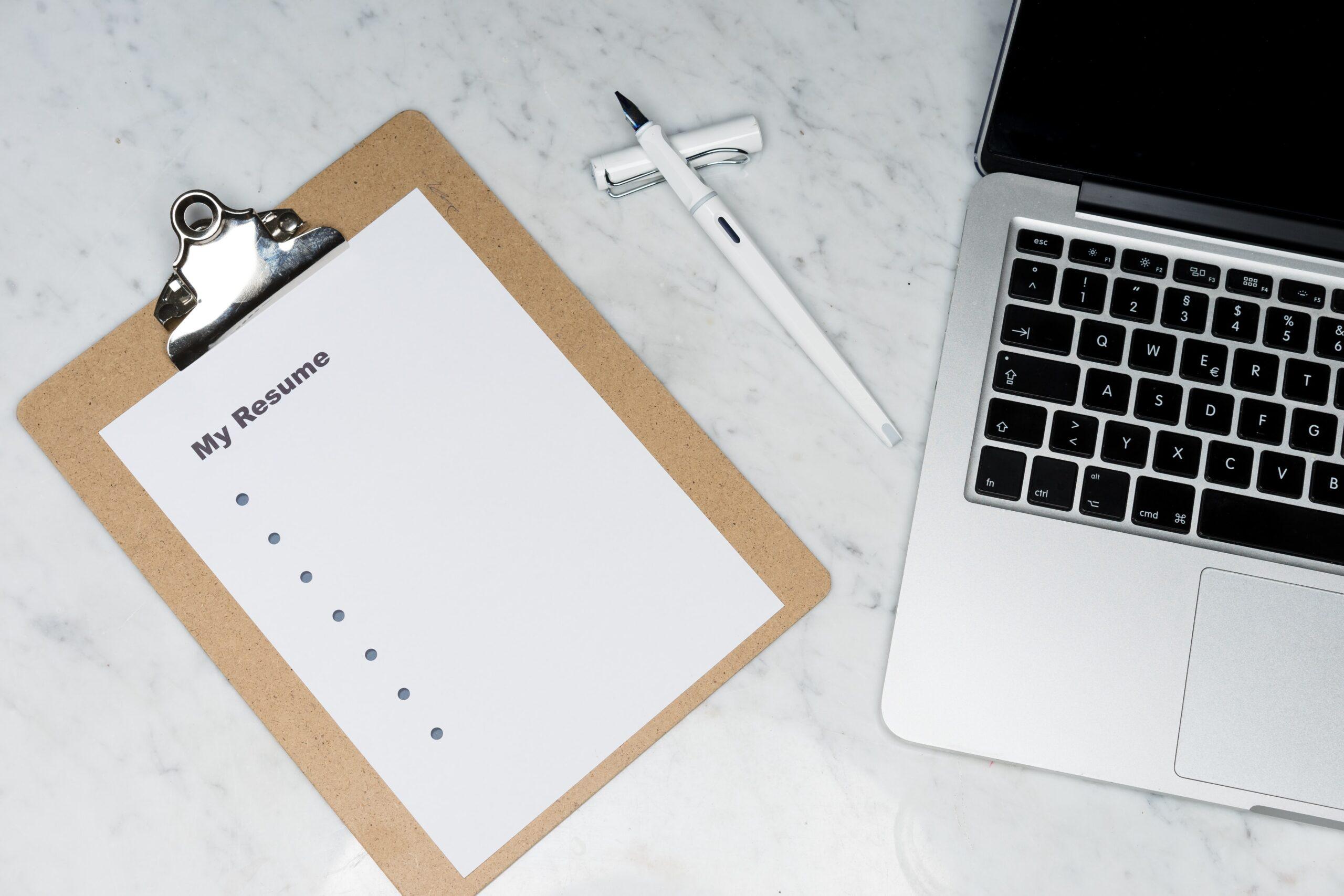 職務経歴書の書き方とポイントをパソコンで検索